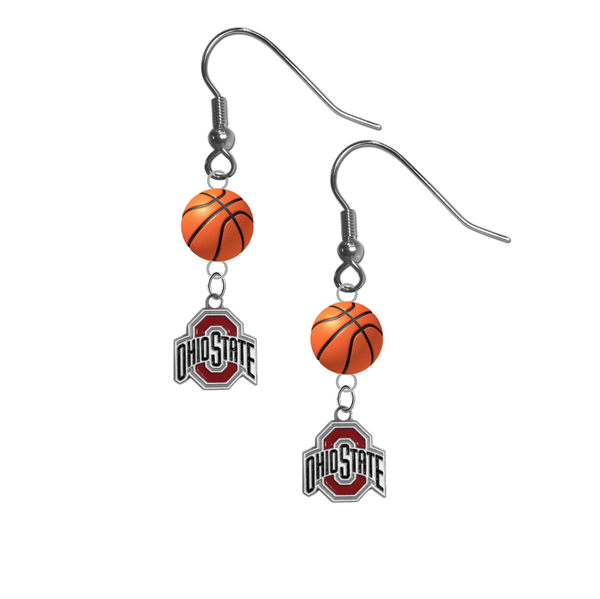 Ohio State Buckeyes NCAA Basketball Dangle Earrings