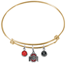 Ohio State Buckeyes GOLD Color Edition Expandable Wire Bangle Charm Bracelet