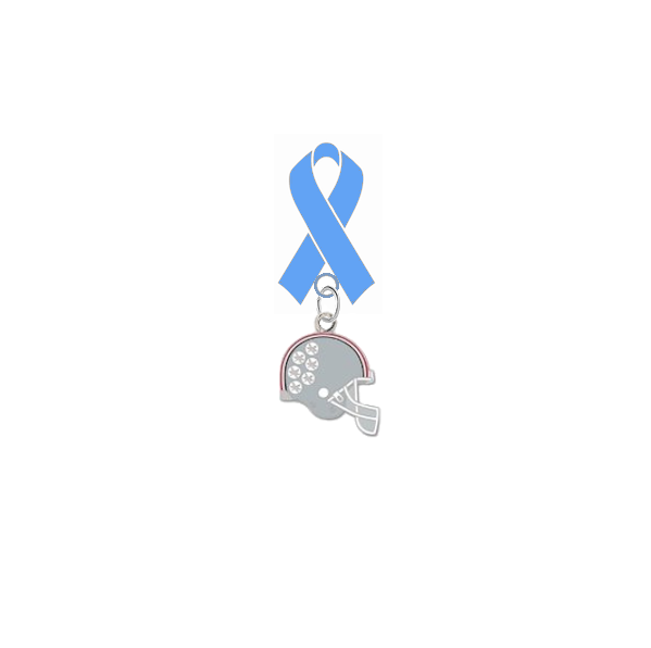 Ohio State Buckeyes Football Helmet Prostate Cancer Awareness / Fathers Day Light Blue Ribbon Lapel Pin