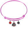 Ohio State Buckeyes PINK Color Edition Expandable Wire Bangle Charm Bracelet