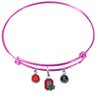 Ohio State Buckeyes Style 2 PINK Color Edition Expandable Wire Bangle Charm Bracelet