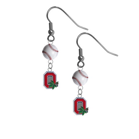 Ohio State Buckeyes Style 2 NCAA Baseball Dangle Earrings