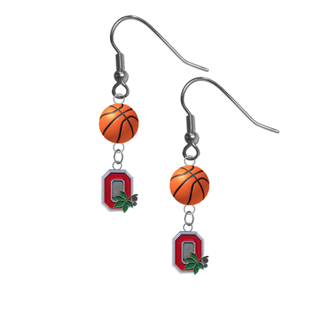 Ohio State Buckeyes Style 2 NCAA Basketball Dangle Earrings