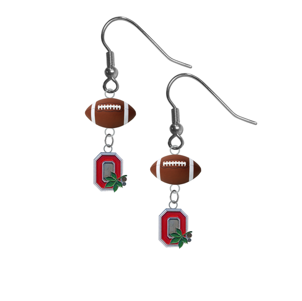 Ohio State Buckeyes Style 2 NCAA Football Dangle Earrings