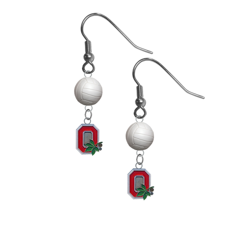 Ohio State Buckeyes Style 2 NCAA Volleyball Dangle Earrings