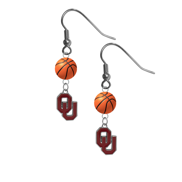 Oklahoma Sooners NCAA Basketball Dangle Earrings