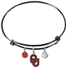 Oklahoma Sooners BLACK Color Edition Expandable Wire Bangle Charm Bracelet