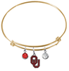 Oklahoma Sooners GOLD Color Edition Expandable Wire Bangle Charm Bracelet