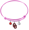 Oklahoma Sooners PINK Color Edition Expandable Wire Bangle Charm Bracelet