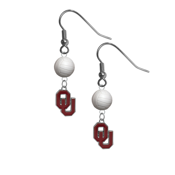Oklahoma Sooners NCAA Volleyball Dangle Earrings