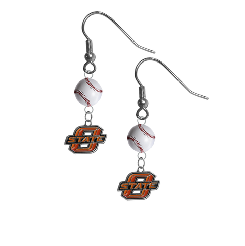 Oklahoma State Cowboys NCAA Baseball Dangle Earrings