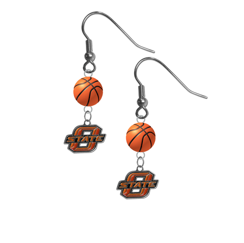 Oklahoma State Cowboys NCAA Basketball Dangle Earrings