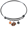 Oklahoma State Cowboys BLACK Expandable Wire Bangle Charm Bracelet