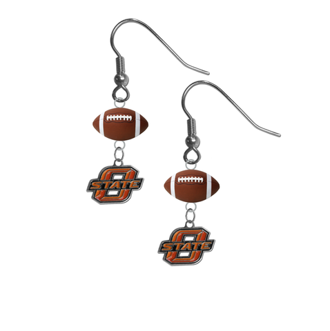 Oklahoma State Cowboys NCAA Football Dangle Earrings