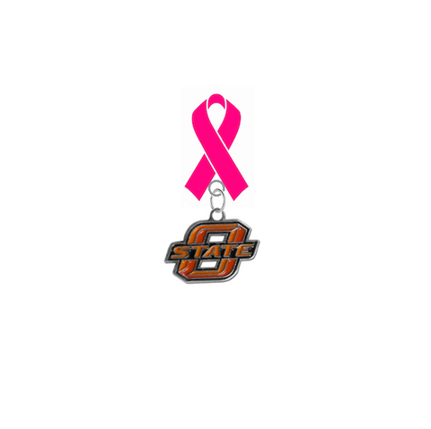Oklahoma State Cowboys Breast Cancer Awareness / Mothers Day Pink Ribbon Lapel Pin