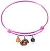 Oklahoma State Cowboys PINK Expandable Wire Bangle Charm Bracelet