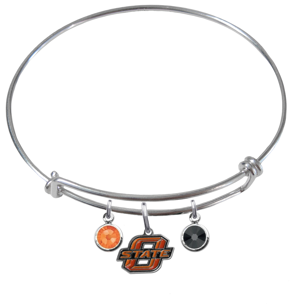 Oklahoma State Cowboys NCAA Expandable Wire Bangle Charm Bracelet