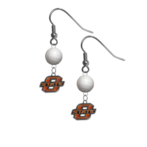 Oklahoma State Cowboys NCAA Volleyball Dangle Earrings