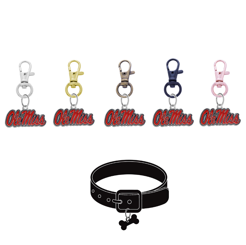 Ole Miss Mississippi Rebels NCAA Pet Tag Dog Cat Collar Charm