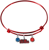 Ole Miss Rebels RED Color Edition Expandable Wire Bangle Charm Bracelet