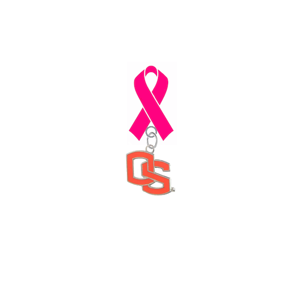 Oregon State Beavers Style 2 Breast Cancer Awareness / Mothers Day Pink Ribbon Lapel Pin