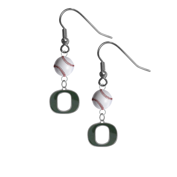 Oregon Ducks NCAA Baseball Dangle Earrings