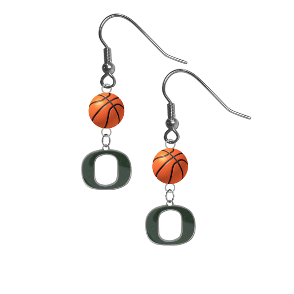Oregon Ducks NCAA Basketball Dangle Earrings