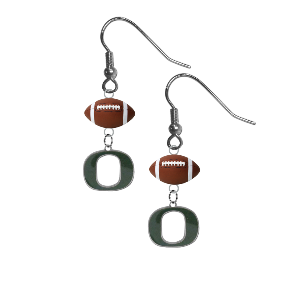 Oregon Ducks NCAA Football Dangle Earrings