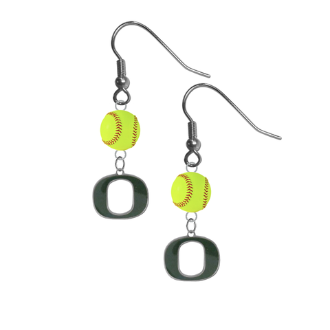 Oregon Ducks NCAA Fastpitch Softball Dangle Earrings