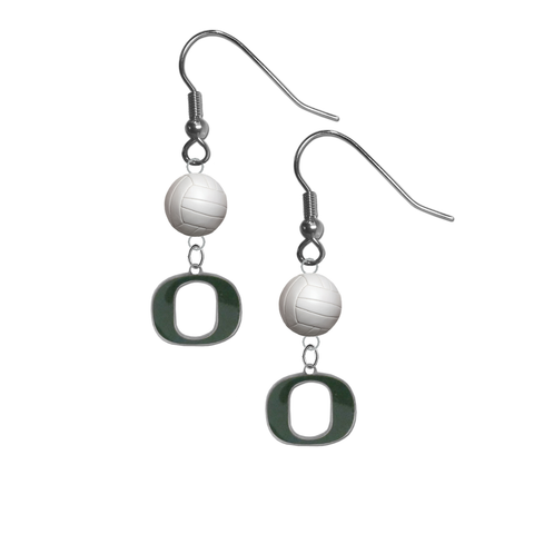 Oregon Ducks NCAA Volleyball Dangle Earrings
