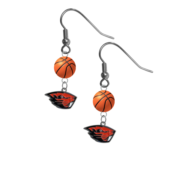 Oregon State Beavers NCAA Basketball Dangle Earrings