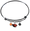 Oregon State Beavers BLACK Color Edition Expandable Wire Bangle Charm Bracelet