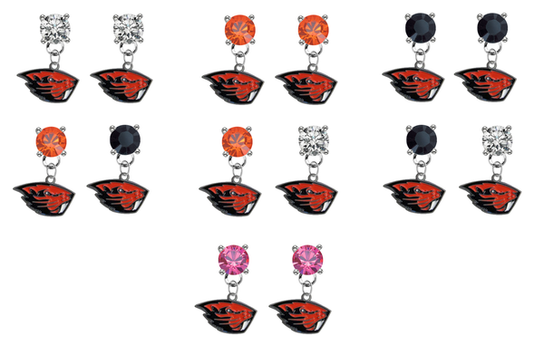 Oregon State Beavers NCAA Swarovski Crystal Stud Rhinestone Earrings