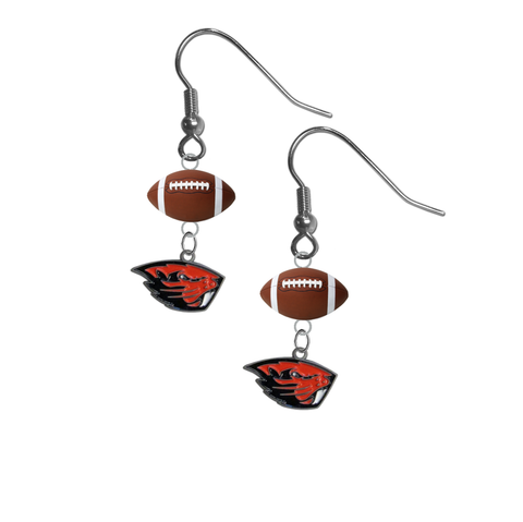 Oregon State Beavers NCAA Football Dangle Earrings