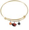 Oregon State Beavers GOLD Color Edition Expandable Wire Bangle Charm Bracelet
