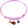 Oregon State Beavers PINK Color Edition Expandable Wire Bangle Charm Bracelet