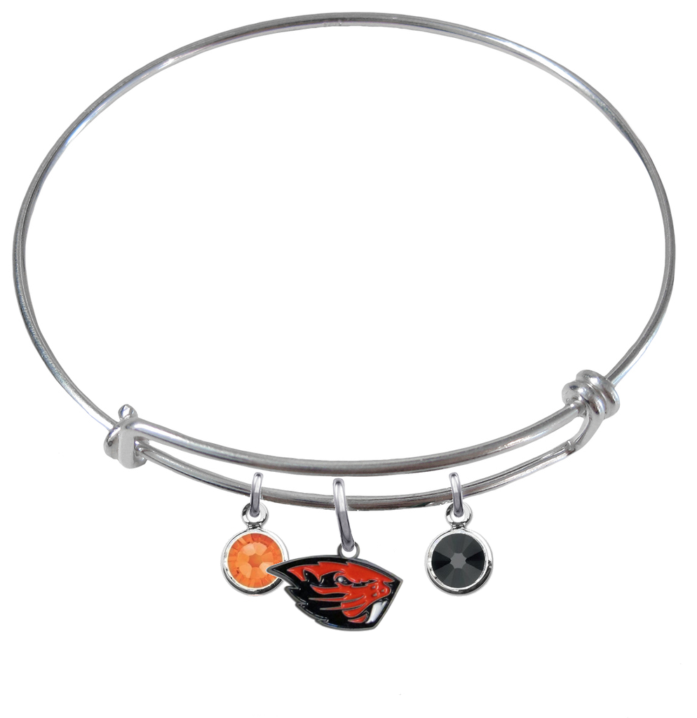 Oregon State Beavers NCAA Expandable Wire Bangle Charm Bracelet