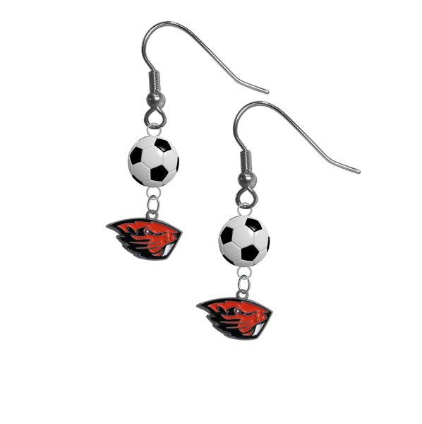 Oregon State Beavers NCAA Soccer Dangle Earrings