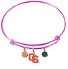 Oregon State Beavers Style 2 PINK Color Edition Expandable Wire Bangle Charm Bracelet