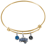 Orlando Magic GOLD Color Edition Expandable Wire Bangle Charm Bracelet