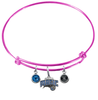 Orlando Magic PINK Color Edition Expandable Wire Bangle Charm Bracelet