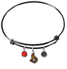 Ottawa Senators Color Edition BLACK Expandable Wire Bangle Charm Bracelet