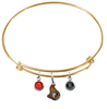 Ottawa Senators Color Edition GOLD Expandable Wire Bangle Charm Bracelet
