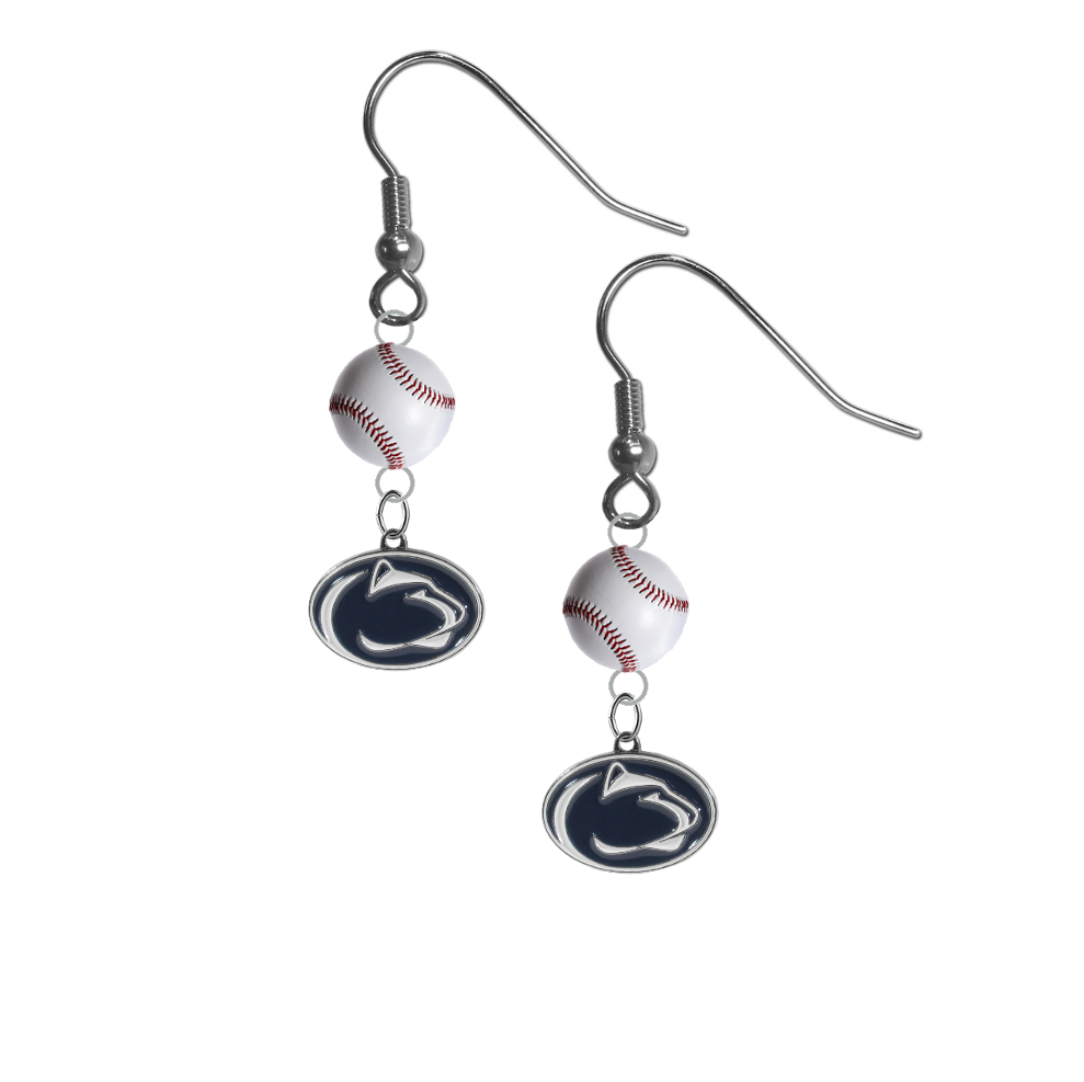 Penn State Nittany Lions NCAA Baseball Dangle Earrings