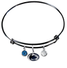Penn State Nittany Lions BLACK Color Edition Expandable Wire Bangle Charm Bracelet