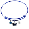 Penn State Nittany Lions BLUE Color Edition Expandable Wire Bangle Charm Bracelet