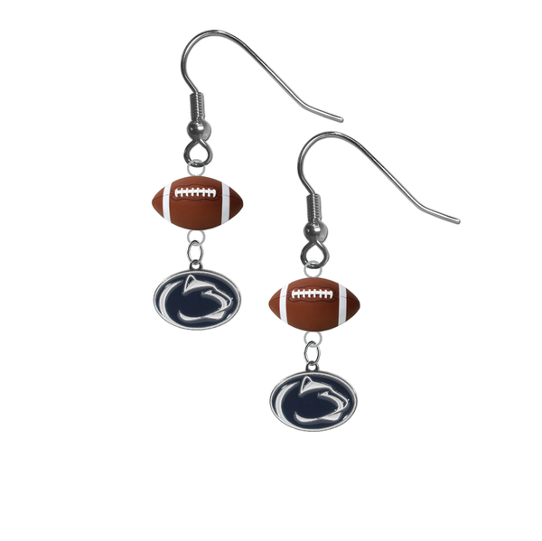 Penn State Nittany Lions NCAA Football Dangle Earrings