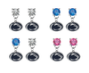 Penn State Nittany Lions NCAA Swarovski Crystal Stud Rhinestone Earrings