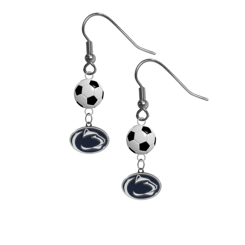 Penn State Nittany Lions NCAA Soccer Dangle Earrings