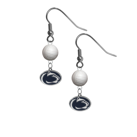 Penn State Nittany Lions NCAA Volleyball Dangle Earrings